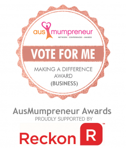 2017 Making a Difference Award – AusMumpreneur